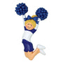 Cheerleader Blue Uniform Ornament - Female, Blonde