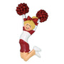 Cheerleader Red Uniform Ornament- Female, Blonde