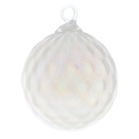 June Pearl Birthstone Glass Eye Christmas Ornament