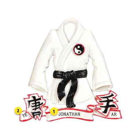 Martial Arts Jacket Ornament
