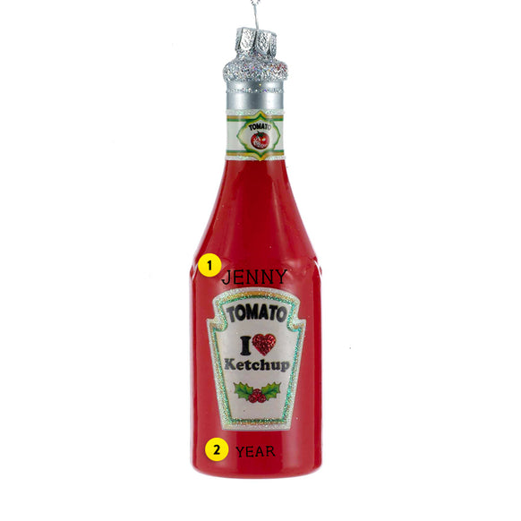 Ketchup Bottle Ornament for Christmas Tree