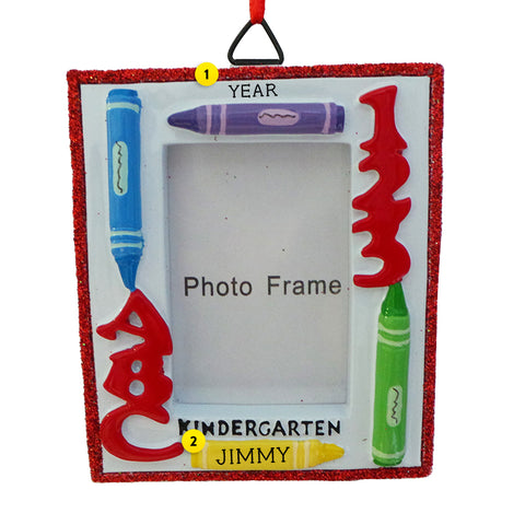Kindergarten Picture Frame Ornament for Christmas Tree