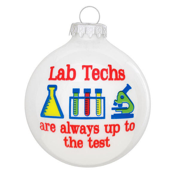 Lab Tech Ornament for Christmas Tree