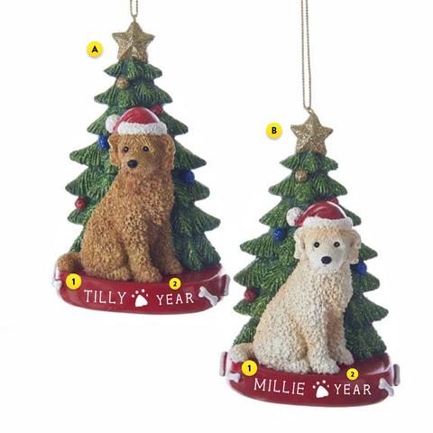 Labradoodle Dog Ornament For Christmas Tree