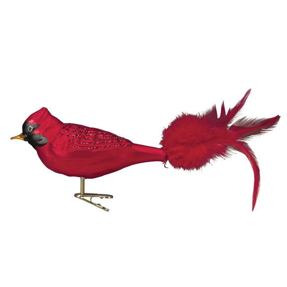 Large Red Cardinal Ornament for Christmas Tree