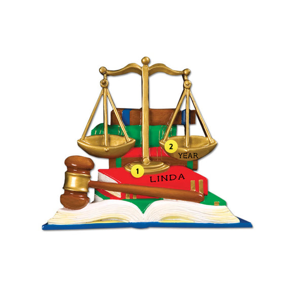 Lawyer Scales of Justice Ornament