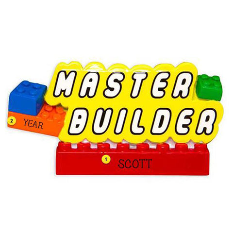 Master Builder Christmas Ornament