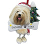 Lhasa Apso Dog Ornament for Christmas Tree