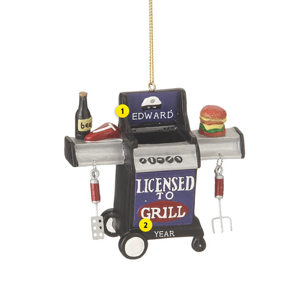 Licensed to Grill Ornament
