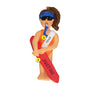 Lifeguard Ornament - Female, Brown Hair for Christmas Tree
