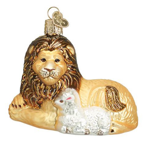 Lion and Lamb Ornament for Christmas Tree