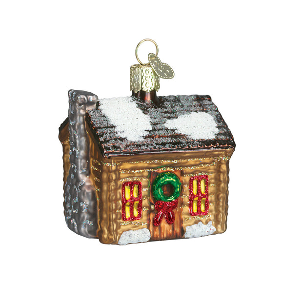 Log Cabin Ornament for Christmas Tree