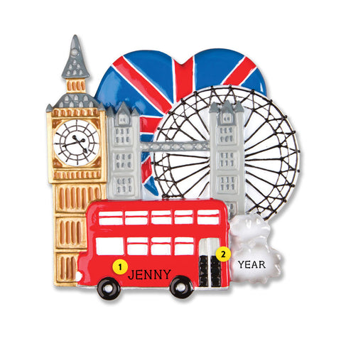 London Ornament for Christmas Tree
