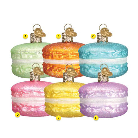 Macaron Ornament 6 assorted colors please choose one