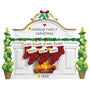Mantel with Stockings Family of 7 Table Top Family Decoration