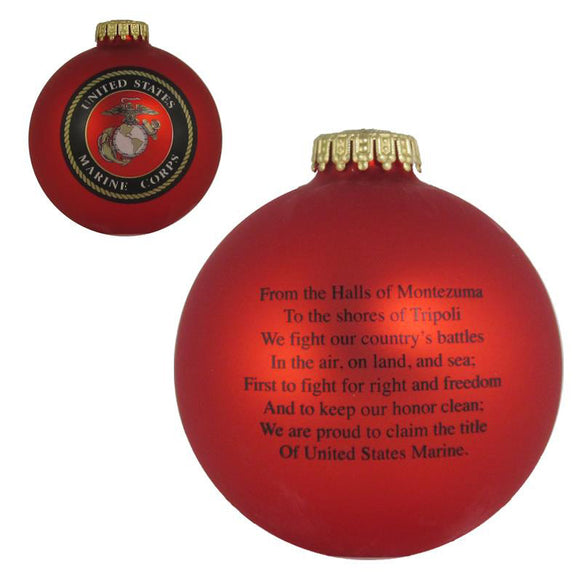 Marine Corps Ornament for Christmas Tree