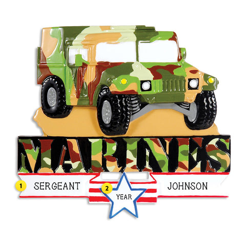 Marine Humvee Ornament for Christmas Tree