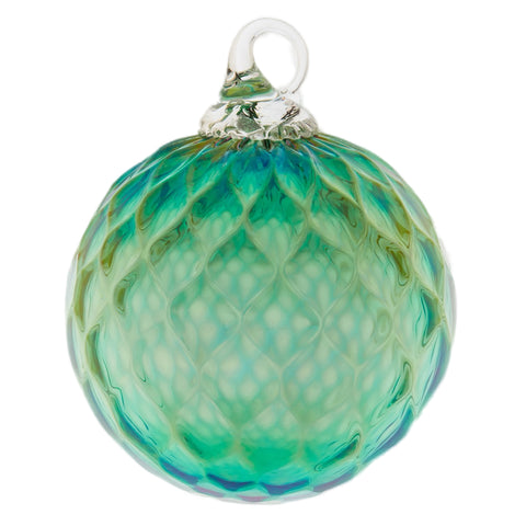 May Emerald Birthstone Glass Eye Christmas Ornament