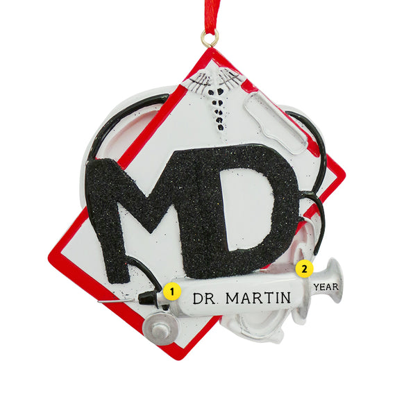 Medical Chart Ornament for Christmas Tree