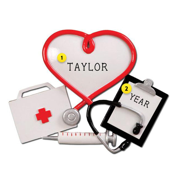 Medical Professional Christmas Ornament Personalized
