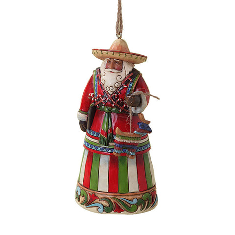 Mexican Santa Ornament for Christmas Tree