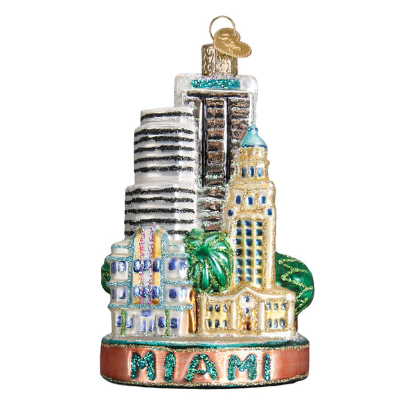 Miami City Ornament for Christmas Tree