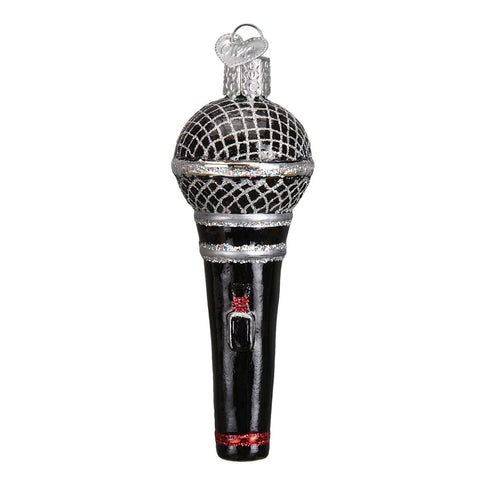 Glass Microphone Ornament for Christmas Tree