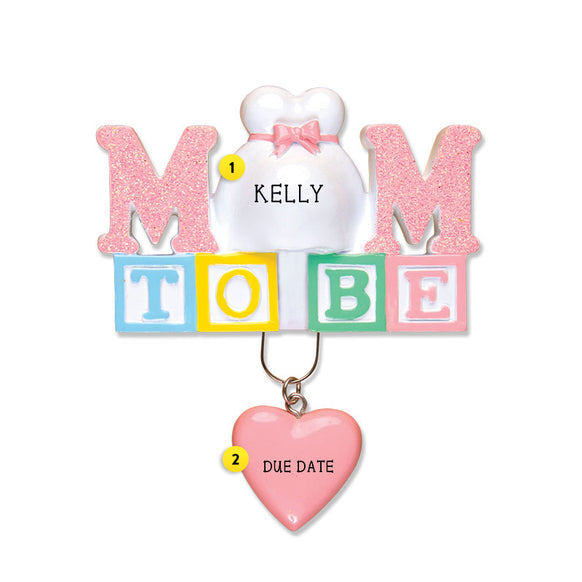 Mom To Be Ornament for Christmas Tree