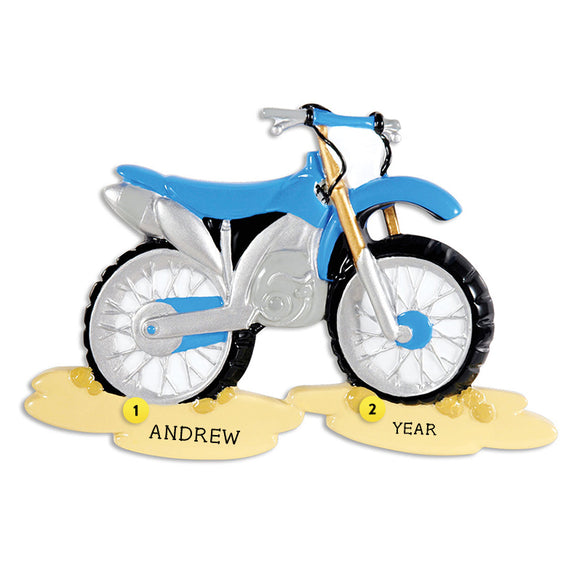Motorcross Bike on Dirt Ornament for Christmas Tree