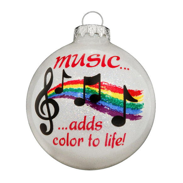 Music Glass Bulb Ornament for Christmas Tree