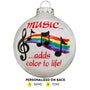 Music Glass Bulb Ornament