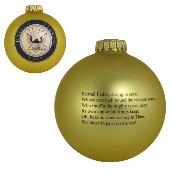 Navy Bulb Ornament for Christmas Tree