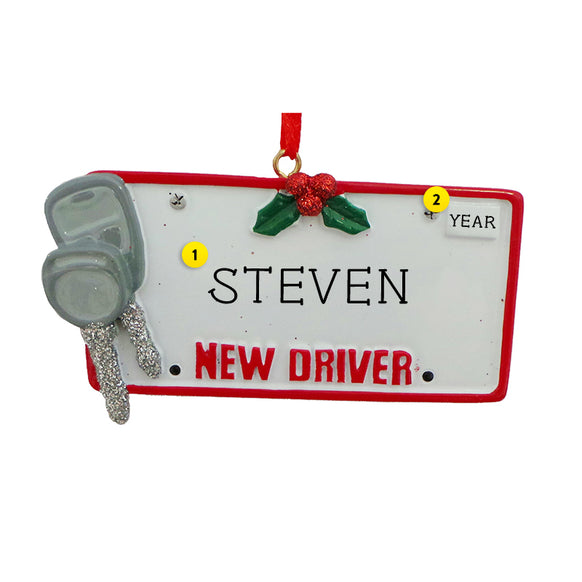 New Driver's License with Keys Ornament for Christmas Tree