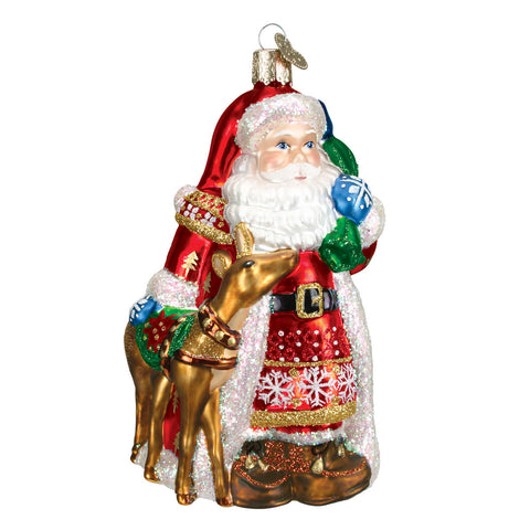 Nordic Santa Ornament for Christmas Tree