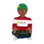 Boy Video Game Player Ornament - African American