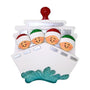 Cruise Ship Family of 4 Ornament For Christmas Tree
