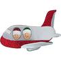Couple on Airplane Ornament