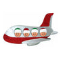 Family of 4 Airplane Ornament For Christmas Tree