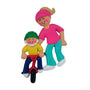 Child Learning to Ride a Bike Ornament -Female Adult ,Blonde