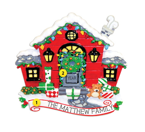 Red Decorated Home Christmas Ornament