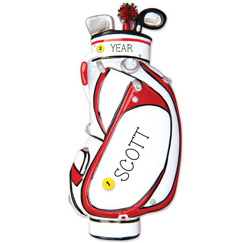 Golf Bag Ornament
