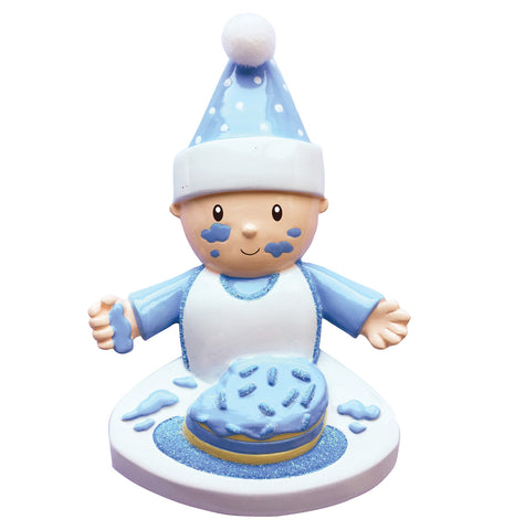 Baby Boy's 1st Cake Ornament