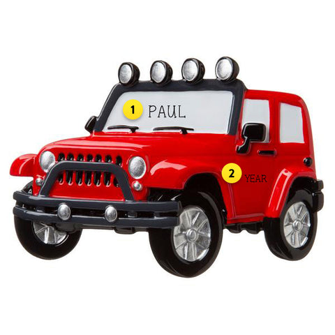 JEEP ORNAMENT FOR YOUR TREE