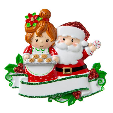 Santa and Mrs. Claus Baking Cookies Ornament
