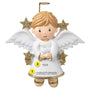 Angel Boy with Dove personalized ornament