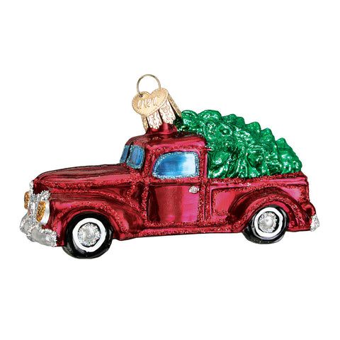 Old Truck with Tree Ornament for Christmas Tree