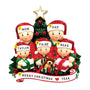 Opening Gifts From Santa Family of 5 Ornament for Christmas Tree