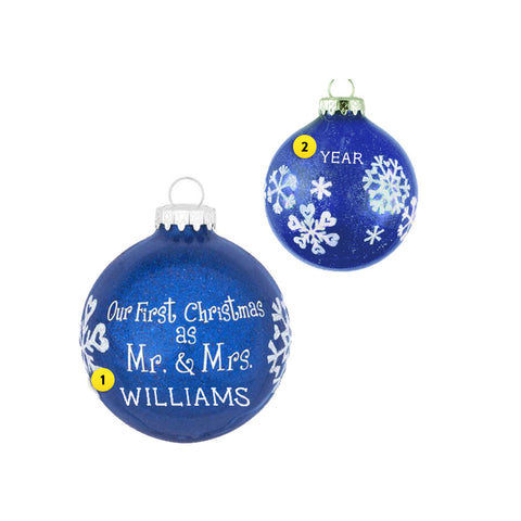 """Our First Christmas as Mr. & Mrs."" Ornament for Christmas Tree"