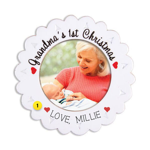 Grandma's 1st Christmas Picture Frame Ornament