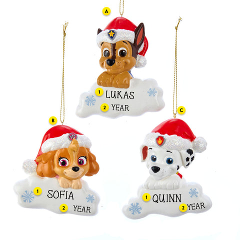 Paw Patrol 3 Assorted Ornaments - Please Select One